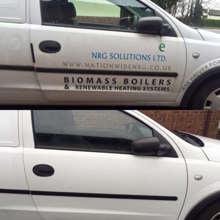 Sign Writing Removal Car Vehicle Valet North West St